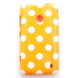 Lumia 520 oranssi polka dot suojakuori.