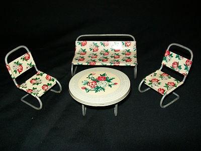 Vintage tin dollhouse furniture