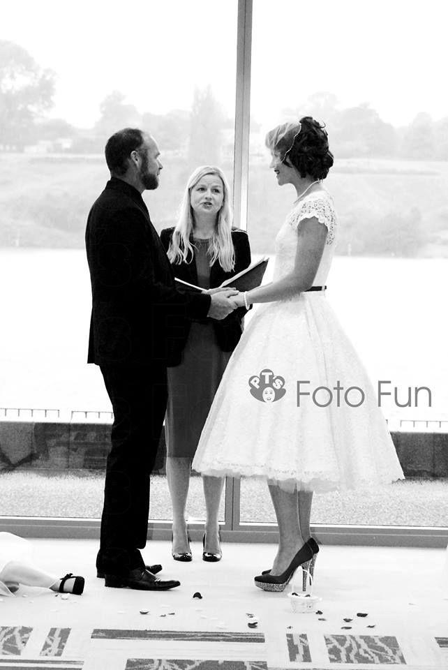 Jemma and Sean celebrating their Wedding day