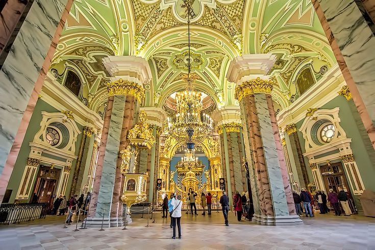 Exquisite interior of Saints Peter and Paul Cathedral at Saint Peter and Paul Fortress in St. Petersburg, Russia