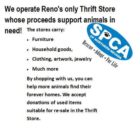 SPCA of Northern Nevada's Thrift Store!