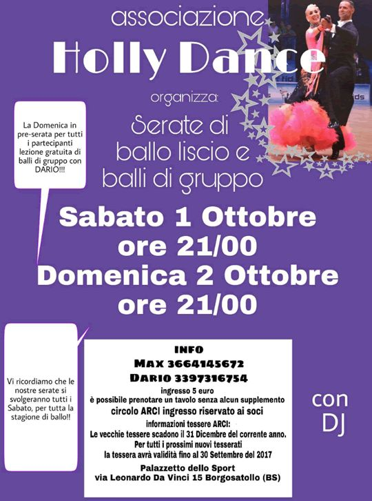Serate di Ballo Liscio e Balli di Gruppo a Borgosatollo