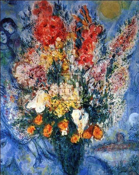 Bouquet De Fleurs Art Print By Marc Chagall At Barewalls