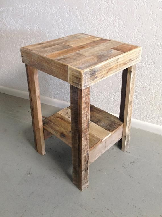 Reclaimed Wood Side Table Beautiful Small Nightstand End Accent Entry Beach House Cabin Handmade Recycled Shabby Chic Loft Pallet Dorm Stand Reclaimed Wood Nightstand Reclaimed Wood Side Table Side Table Wood