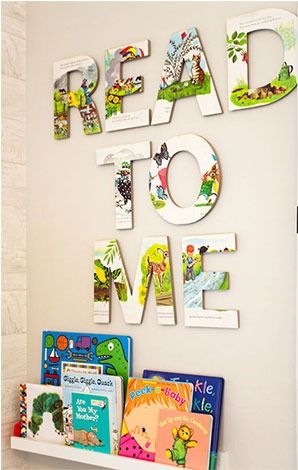 This DIY Library Wall is the perfect addition to your baby's nursery or your toddler's room to help encourage reading.