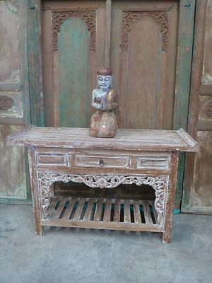 Balinese Recycled Teak Furniture Tv Console Sideboard Hand