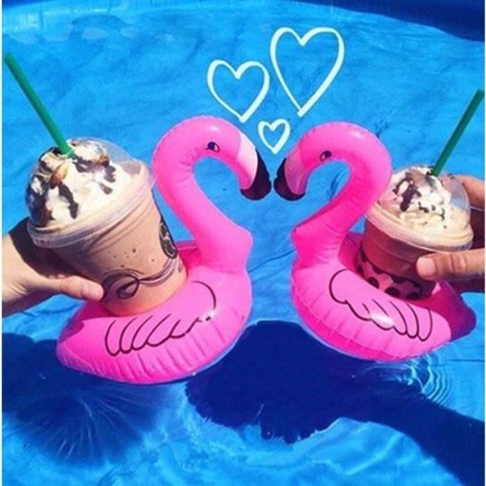 Mini Flamingo Drink Cell Phone Support à la piscine Event & Party Decoration Toy  Description: 100% tout neuf et de haute le Porte-gobelet de boisson est assez bonne pour la fête de plage, bassin pour enfants et la maison. un accessoire amusa