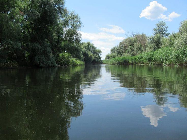 The backwaters of the Danube Delta near Crisan, Romania, are picturesque.