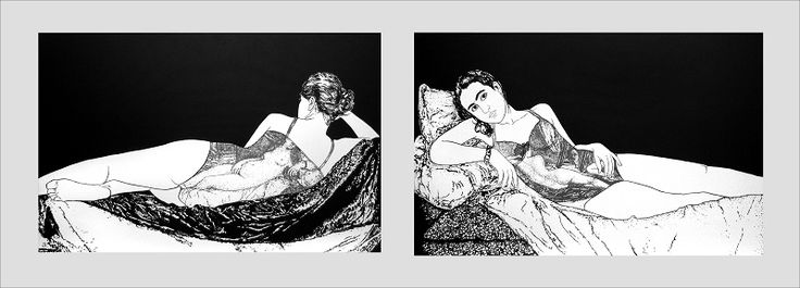 ST Díptico 70 cm x 110 cm c.u Acrílico-Lienzo 2009 2500€ #arte #art #cuban #Lisandra Isabel Garcia
