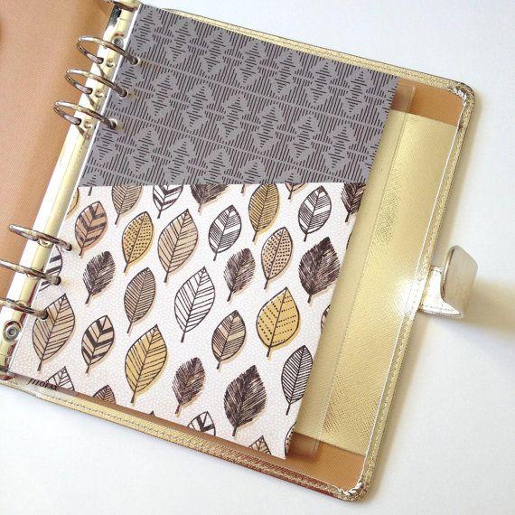 A5 or Personal Planner Pocket // Planner Folder // Planner Insert // A5 Planner Dashboard // Personal Dashboard // Feather Pocket Folder
