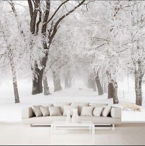 3D Schnee Wald 28787 Fototapeten Wandbild Fototapete ...