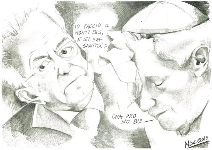 #VIGNETTA: Ora pro no-bis, #Monti #Ratzinger