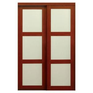 TRUporte 2310 Series 48 In X 80 1 2 In Composite 3 Lite Tempered Frosted Gl