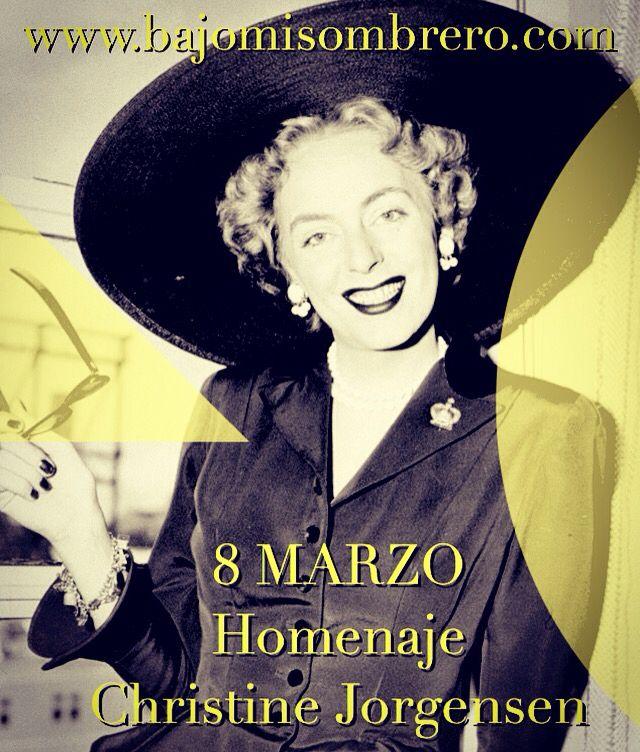 Quién mejor para conmemorar este día (Que defiende la lucha de la mujer por su desarrollo íntegro como persona) que Christine Jorgensen, la primera persona en aceptar públicamente su condición y haber tenido una cirugía de sexo en 1951. Luchó contra todas las adversidades de la época para lograr ser UNA MUJER PLENA. ¡Nos hubiese encantado peinarla en Bajomisombrero! #diadelamujer #diadeladona #dona #mujer #mujeres #barcelona #bcn #transexual #cambiodesexo #transexualidad #lgtb #lgtbbcn…