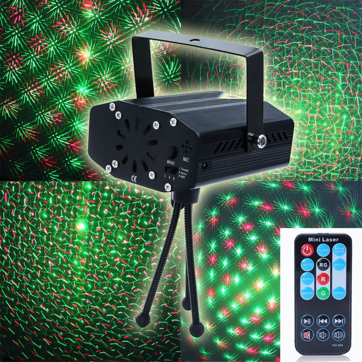 LemonBest Portable multi LED bulb Mini Laser Projector DJ Disco Stage Light Xmas Party Lighting Show With Remote Control