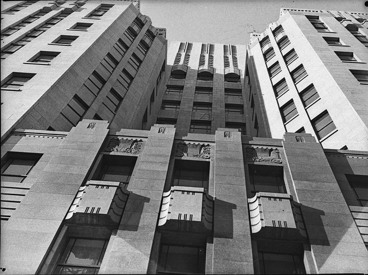 Photograph of the Rural Bank building in Martin Place, Sydney . Taken in December 1936. From the Mitchell Library, State Library of New South Wales : http://www.acmssearch.sl.nsw.gov.au/search/itemDetailPaged.cgi?itemID=27095