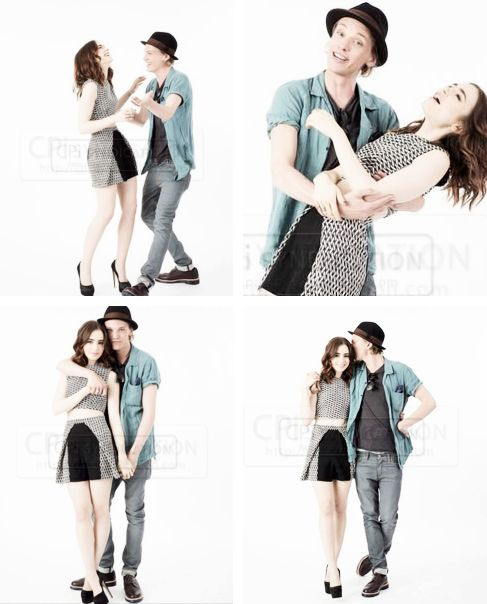 Aww Lilly Collins And Jamie Campbell Bower