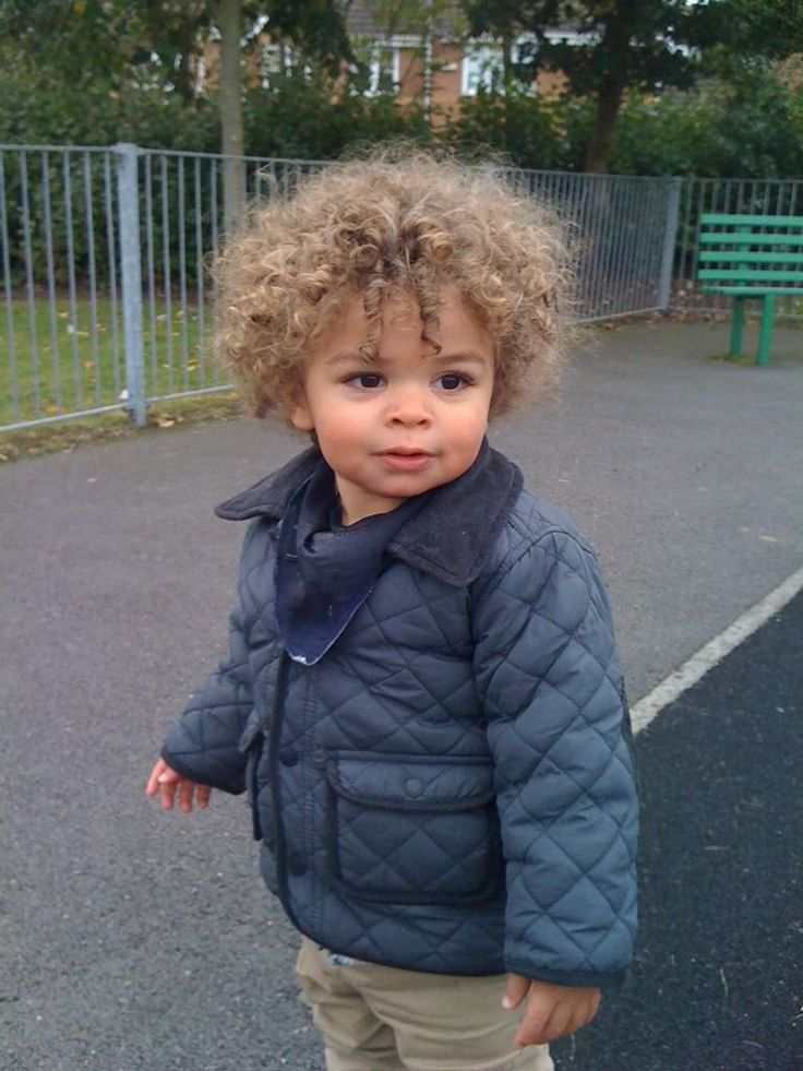 Precious! Love his curls!