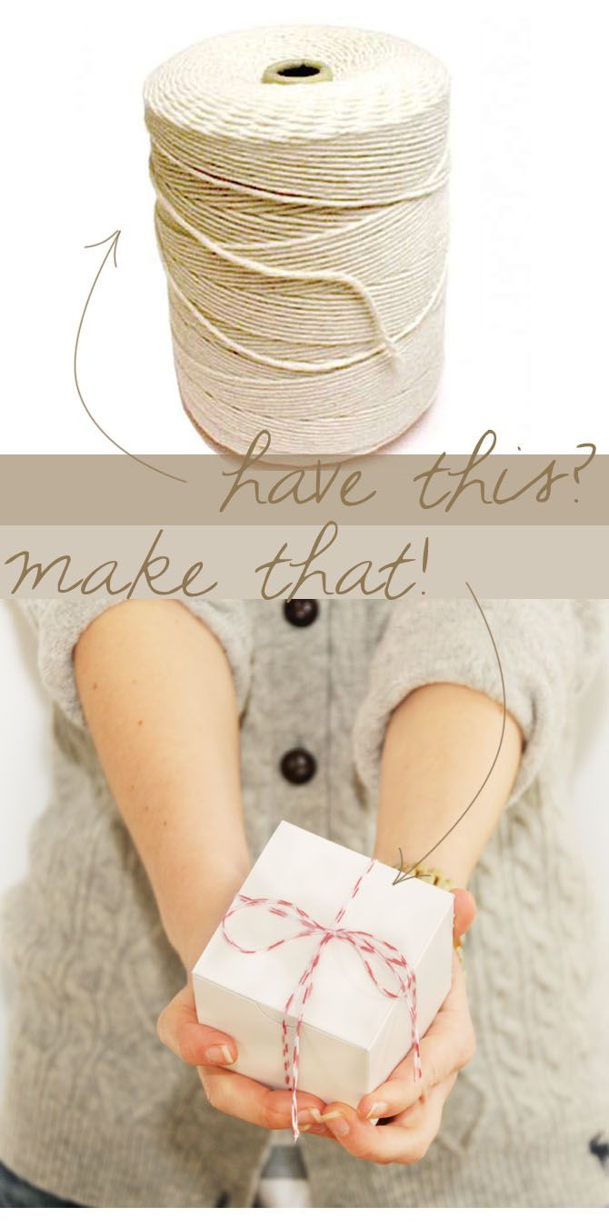 How to make stripped baker's twine