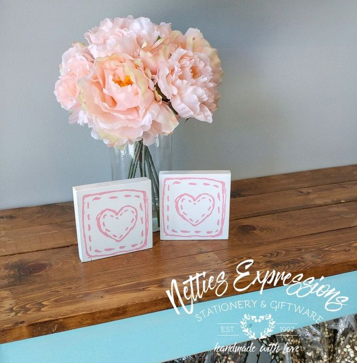 Heart 4x4 Wood Sign - Netties Expressions