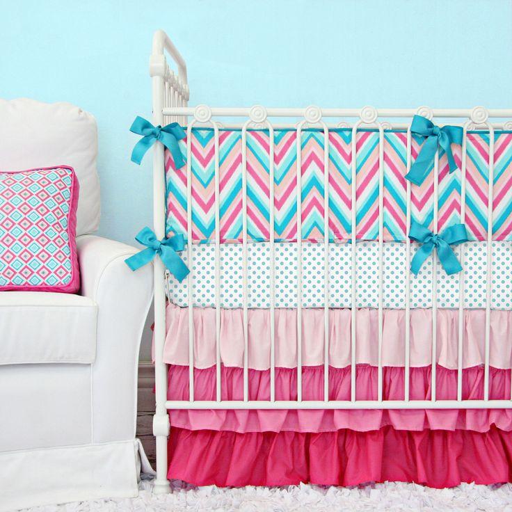Caden Lane Baby Bedding - Lila Chevron Baby Bedding, $172.00 (http://cadenlane.com/lila-chevron-baby-bedding/)