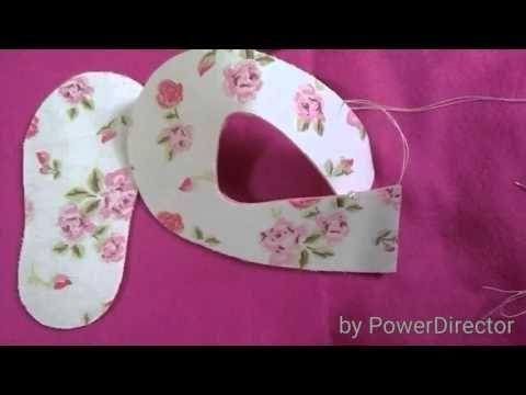 Sapatinho de feltro e tecido - YouTube