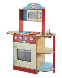 Large Red Wooden Kitchen - ALDI UK
