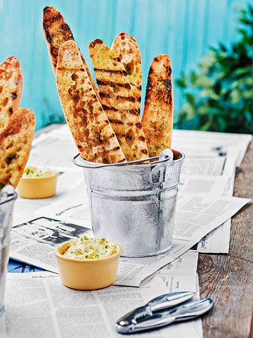 Edible Obsession // Carla Hall's Crab Boil Baguettes in Buckets