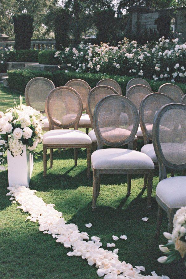 Gorgeous petal lined ceremony: http://www.stylemepretty.com/california-weddings/beverly-hills/2016/03/18/elegant-mansion-wedding-in-beverly-hills/   Photography: http://carmensantorellistudio.com/