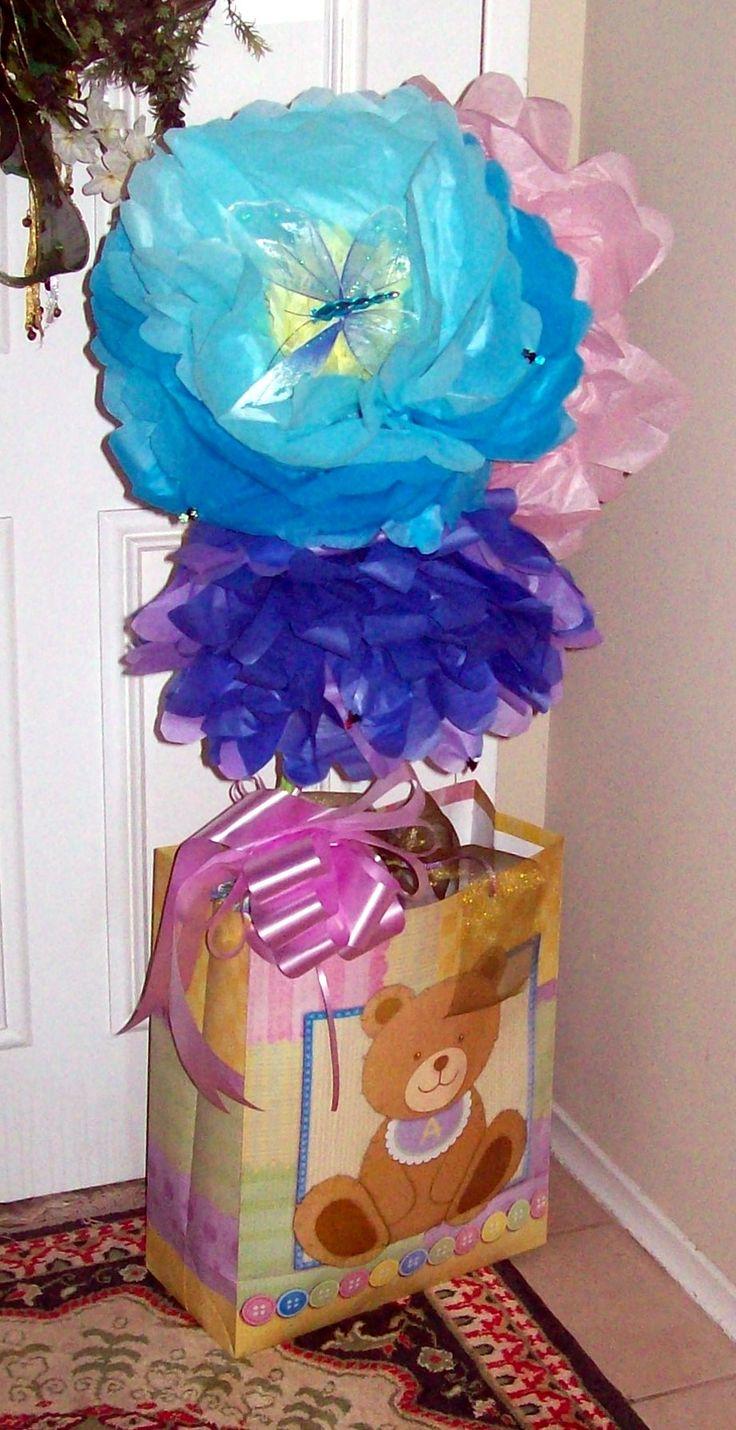 2016 04 Tissue paper flowers for Sienna's 5th birthday, bouquet