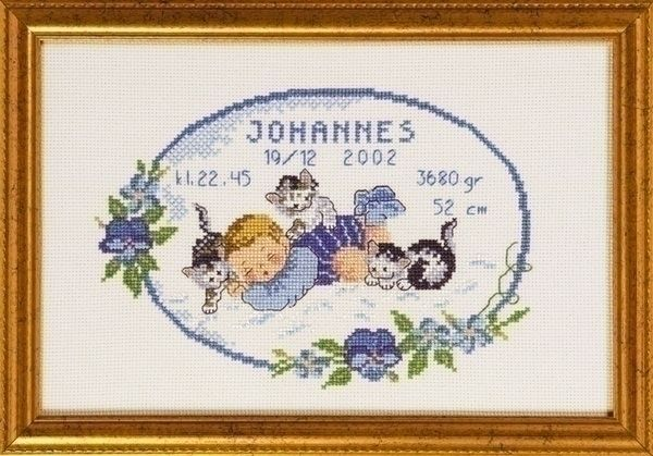 Permin geboortetegel Baby Johannes 12 3604