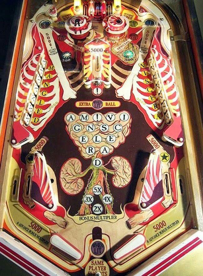 Anatomical pinball machine
