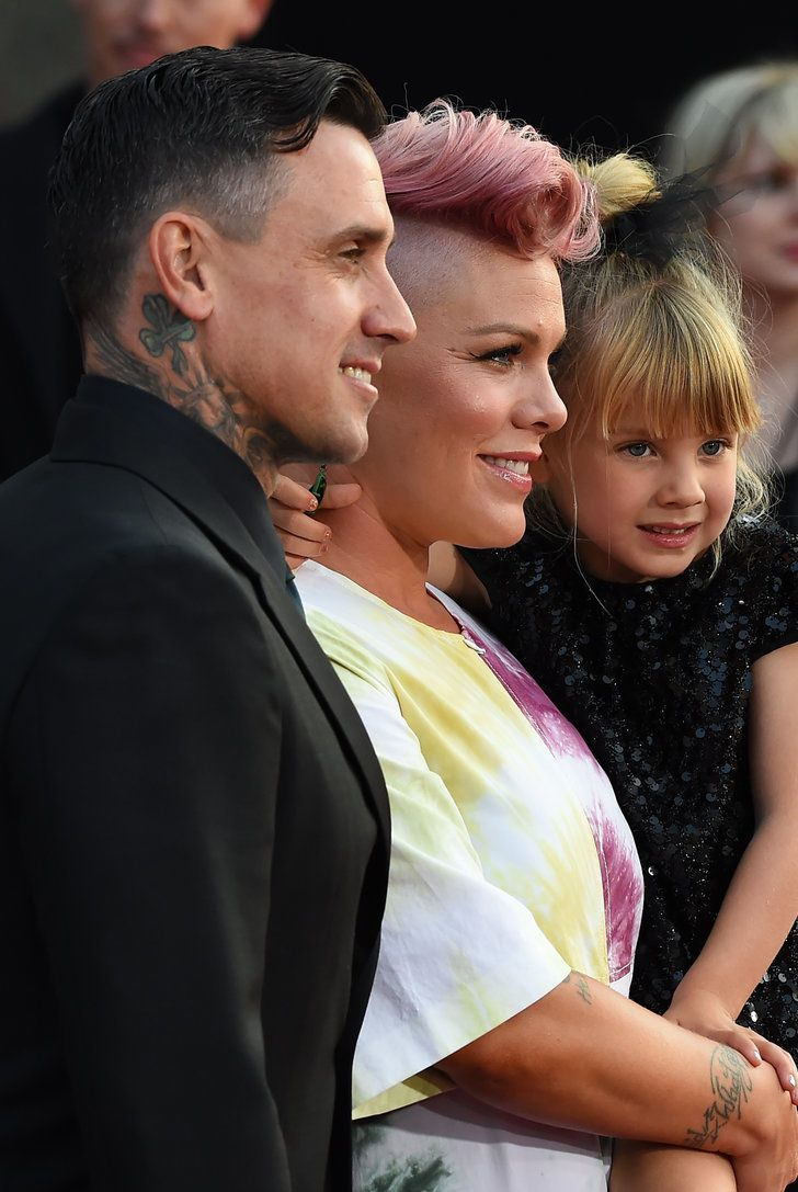 Celebrity & Entertainment | Pink Hits the Red Carpet With Help From Her Husband and Her Adorable Mini Me | POPSUGAR Celebrity