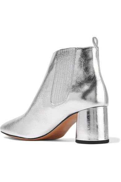 Marc Jacobs - Rocket Metallic Leather Chelsea Boots - Silver - IT40.5