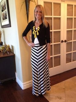 Best 25  Stripped maxi skirts ideas on Pinterest | Long casual ...