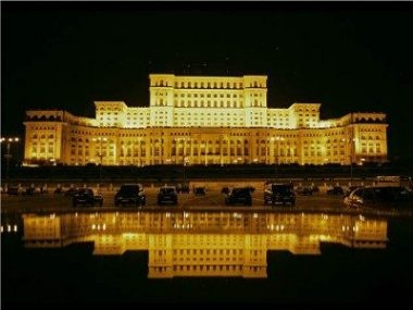 The People's House, The Biggest construction in the world (yes you read right), even if the americans won't admit it.   ~ Bucharest, Romania