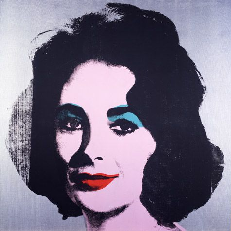 "Take inspiration from graphic design.  ""Andy Warhol (American, 1928-1987)  Silver Liz [Ferus Type], 1963  silkscreen ink, acrylic, and spray paint on linen  40 x 40 in. (101.6 x 101.6 cm.)  The Andy Warhol Museum, Pittsburgh; Founding Collection, Contribution The Andy Warhol Foundation for the Visual Arts, Inc.  The Andy Warhol Foundation for the Visual Arts, Inc.  1998.1.55"