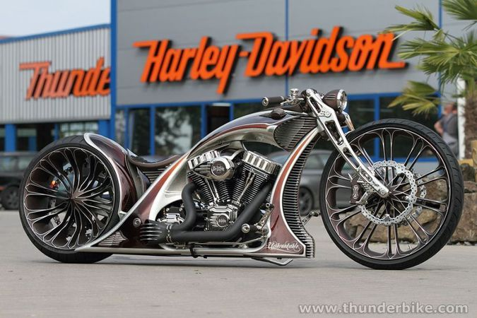 Andreas Bergerforth's Thunderbike Unbreakable Harley Davidson Sign Showcase