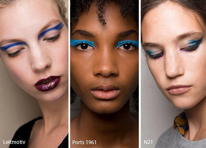 Spring/ Summer 2017 Makeup Trends: Blue Eyeshadow