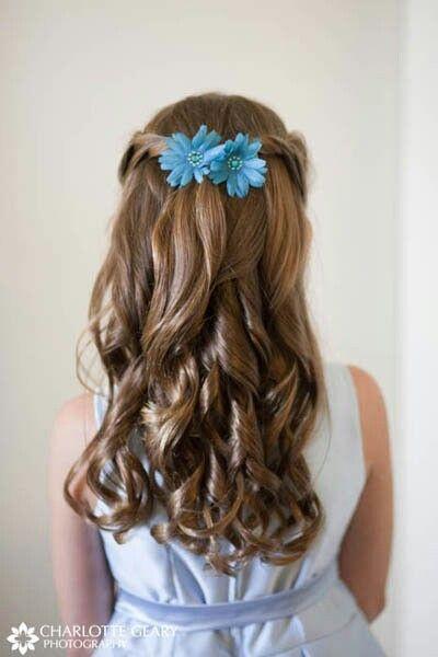 Flowergirl hairstyle