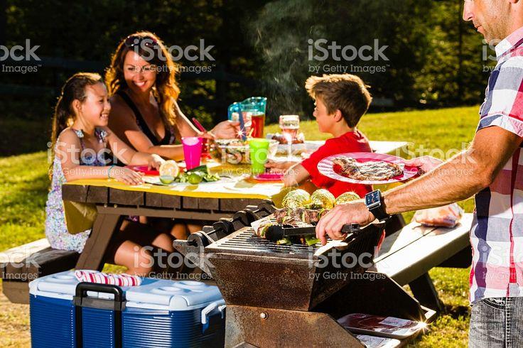 Family camping eat royalty-free stock photo