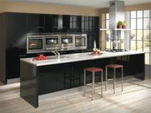 Siyah mutfak iç tasarım fikirleri