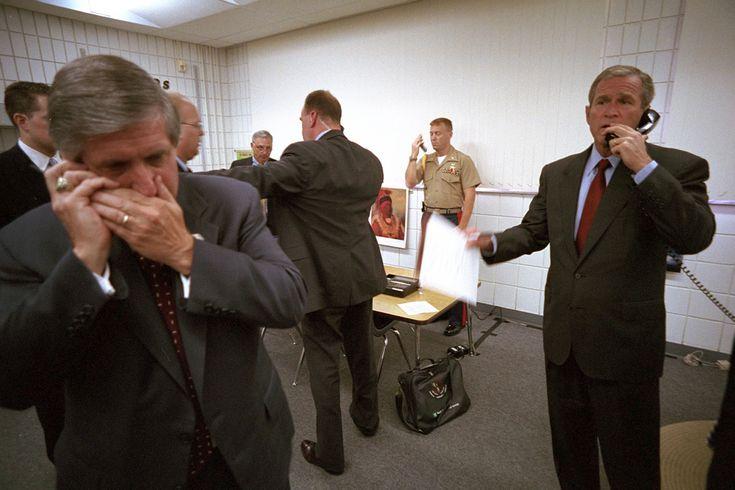 #Remember911: President George W. Bush Speaks on the Telephone, 09/11/2001 #mobile #communication