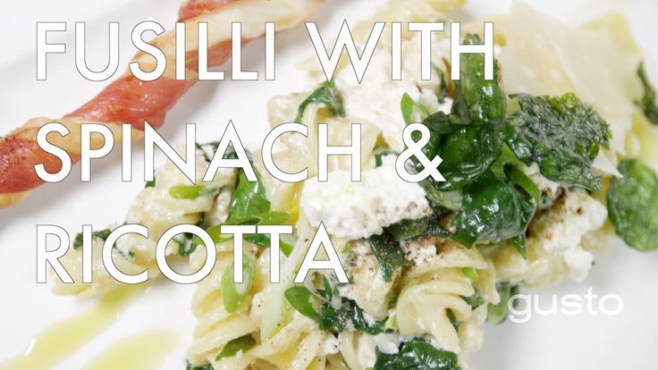 Watch One World Kitchen's Vanessa Gianfrancesco make fusilli with spinach and ricotta in this video!