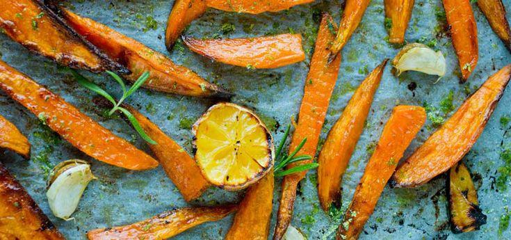 Ovnsbakte søtpoteter med rosmarin- og sitronsalt | Lises blogg