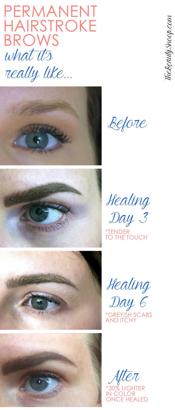 Real Life Permanent Microblade Brows Beauty Tips