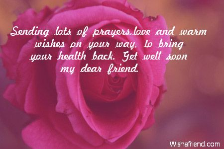 Sending lots of prayers,love and warm wishes on your way, to bring your health back. Get well soon my dear friend.