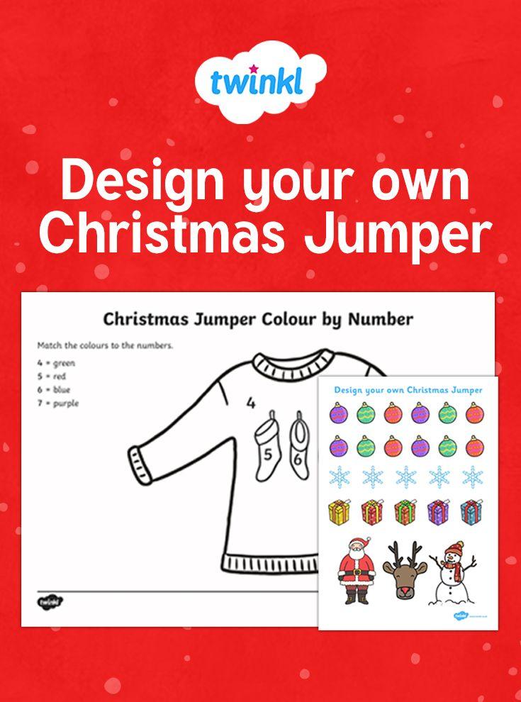 Design A Christmas Jumper Printable Christmas Activities For Kids Christmas Jumpers Christmas Jumper Day