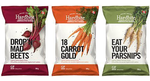 Hardbite brand snacks. Love the 18 Carrot Gold name used