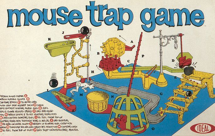 old board games | The Best Classic Board Games – Mouse Trap | Recycled Thoughts from a ...